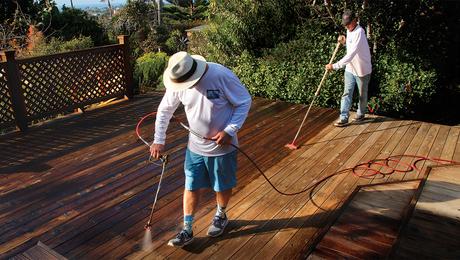 refinishing a deck