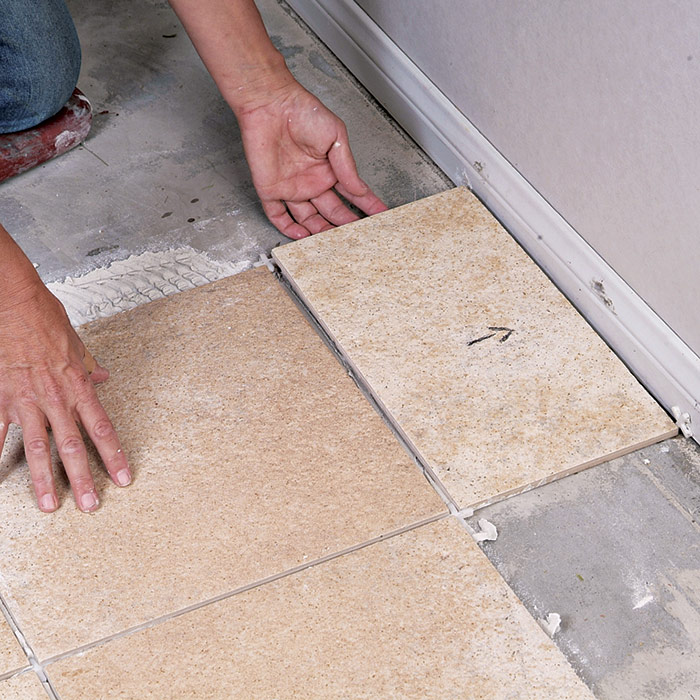 Dry-fit the tile