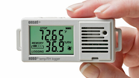 OnSet HOBO, UX100-003 Temperature/relative humidity data logger, $90