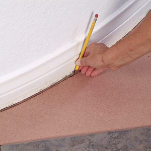 allow for grout or caulk joint