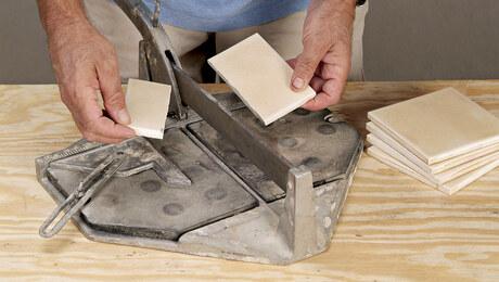 Cutting Tile on a Cutting Board