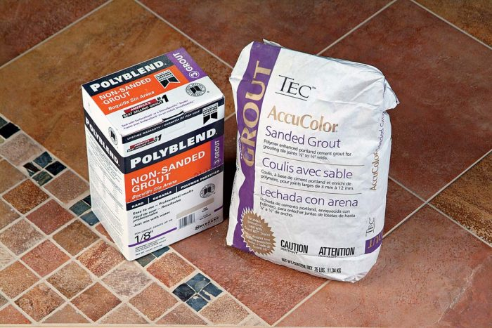 Most of today's sanded and nonsanded grouts are fortified with acrylic polymers for added strength.