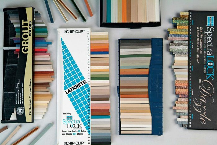 The color possibilities for grouts are nearly endless.