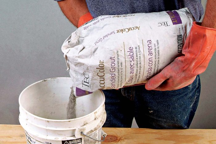 Most grouts are mixed with water.