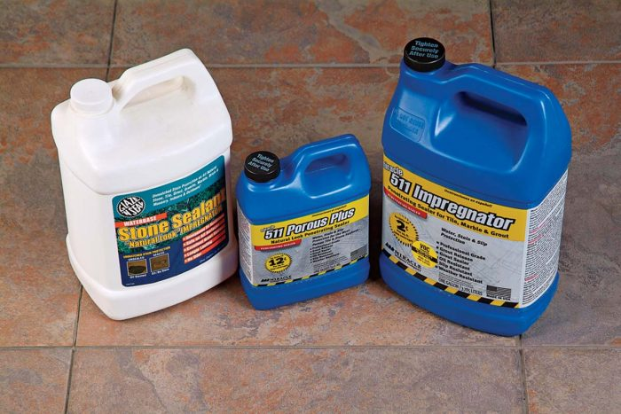 Grout and tile sealers protect and maintain grout joints and stone tiles.