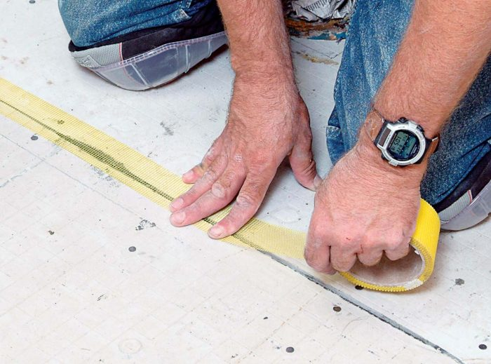 Apply tape smoothly without bumps or ridges.