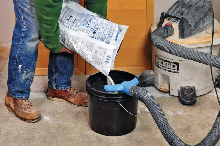 The WaleTale Dust Control vacuum attachment clips onto the rim of a bucket and keeps dust from mixing mortar and grout to a minimum. With upcoming and changing OSHA standards, products like this are valuable and indispensable for employers and employees alike.