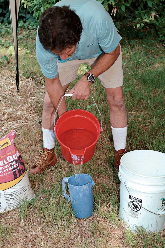 Use an accurate measuring container to add the proper amount of water.