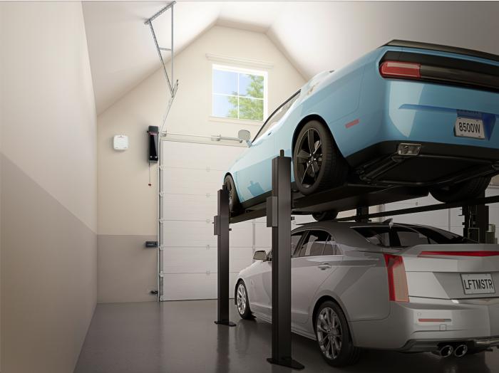 Wall-mounted garage-door opener