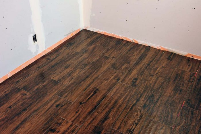 This floor is clean and ready to be grouted.