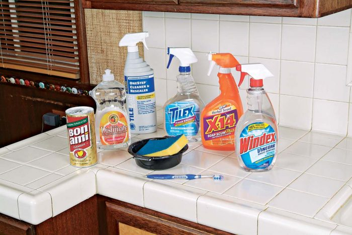 There are many versatile cleaning products to help you maintain the beauty of your tile and grout.