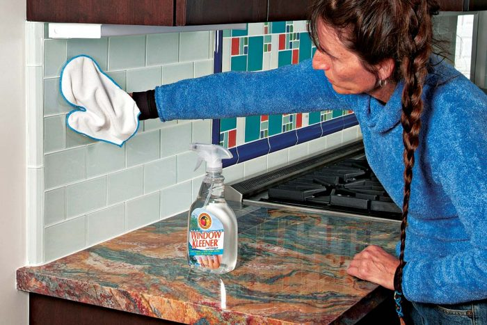 Cleaning Glass Tile