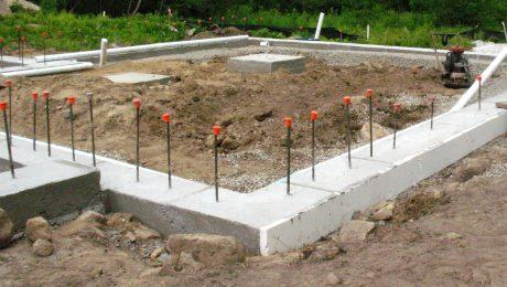 A concrete foundation