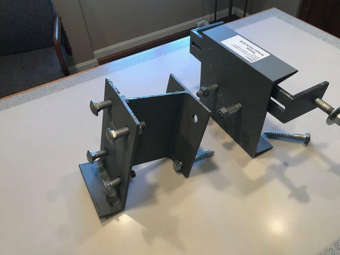 Grey deck ledger on a table