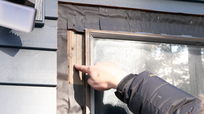 Window directly sitting on the house sheeting