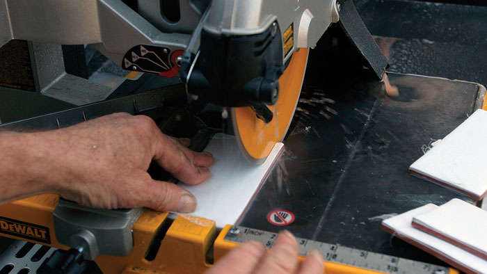 cut tile with wet saw