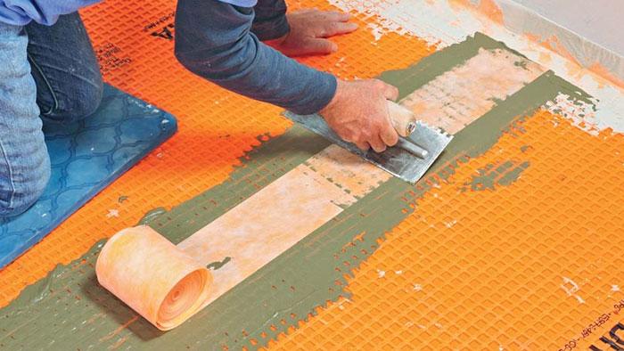 installing Ditra membrane
