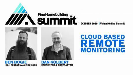 Ben Bogie and Dan Kolbert on the front of a presentation slide for remote monitoring