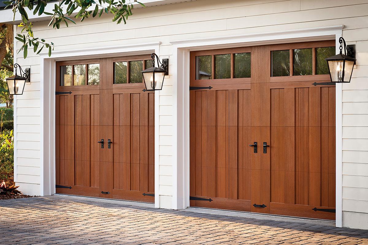 steel door that looks like wood