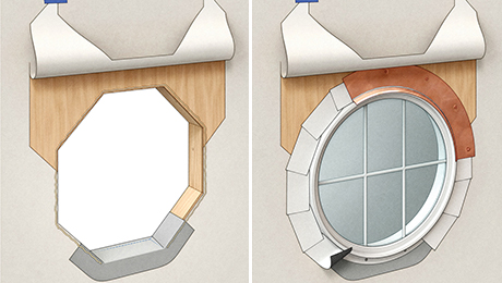 flashing a round window