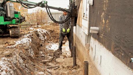 retrofit new foundation footings