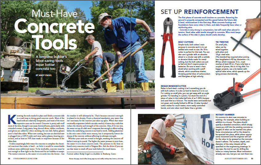 Must-Have Concrete Tools