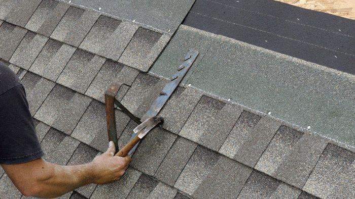 A roof jack placed on a shingle roof