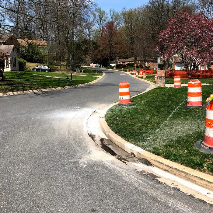 new sidewalk in my neighborhood installation