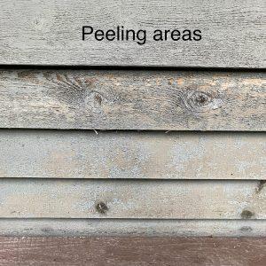 peeling areas