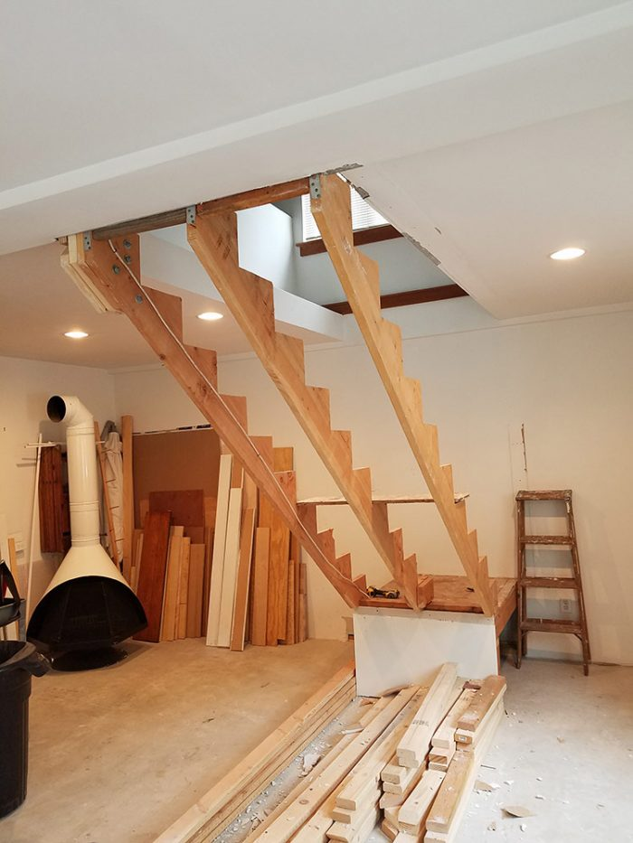 Patrick's barn stairs