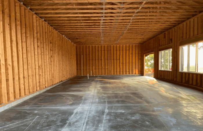Outbuilding interior