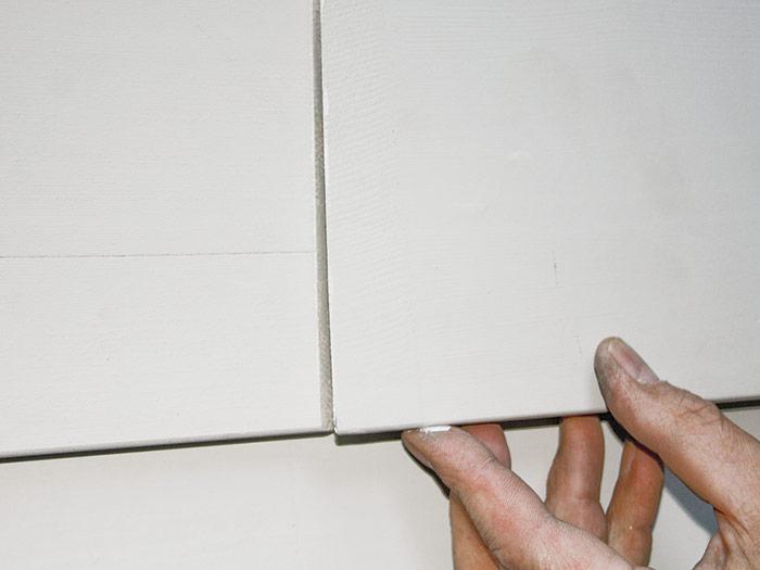 Scarf field joints in clapboards