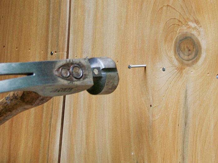 nail the center of the shingle