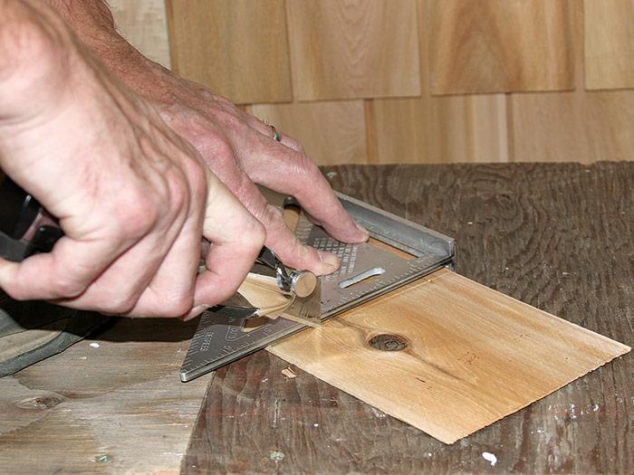 cut cedar shingles