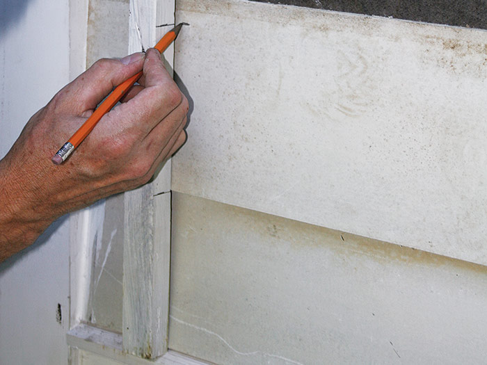 using a story pole to lay out fiber-cement siding