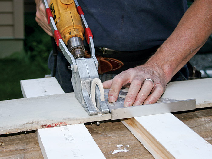 a low-dust way to cut fiber cement