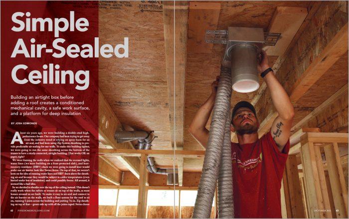 Simple Air-Sealed Ceiling