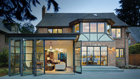 Lightening Up a Tudor With Steel and Glass