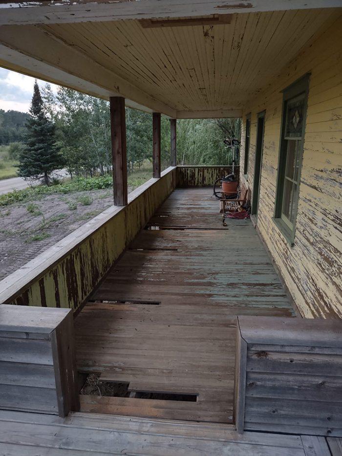 Doug's covered porch