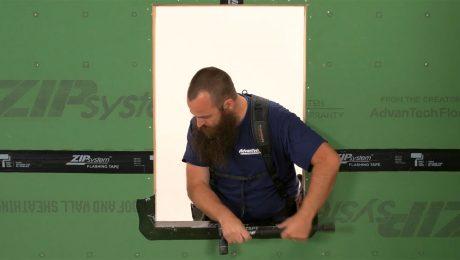 Ben Bogie rolling on flashing tape