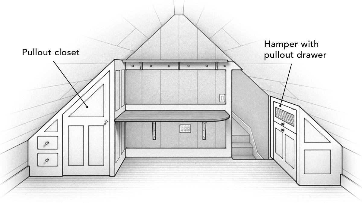 built in closet and hamoer