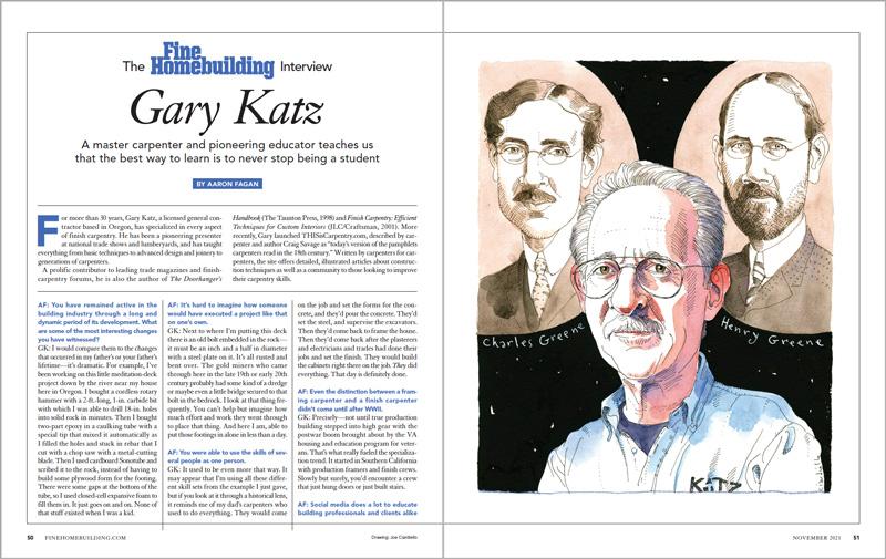 The Fine Homebuilding Interview: Gary Katz spread