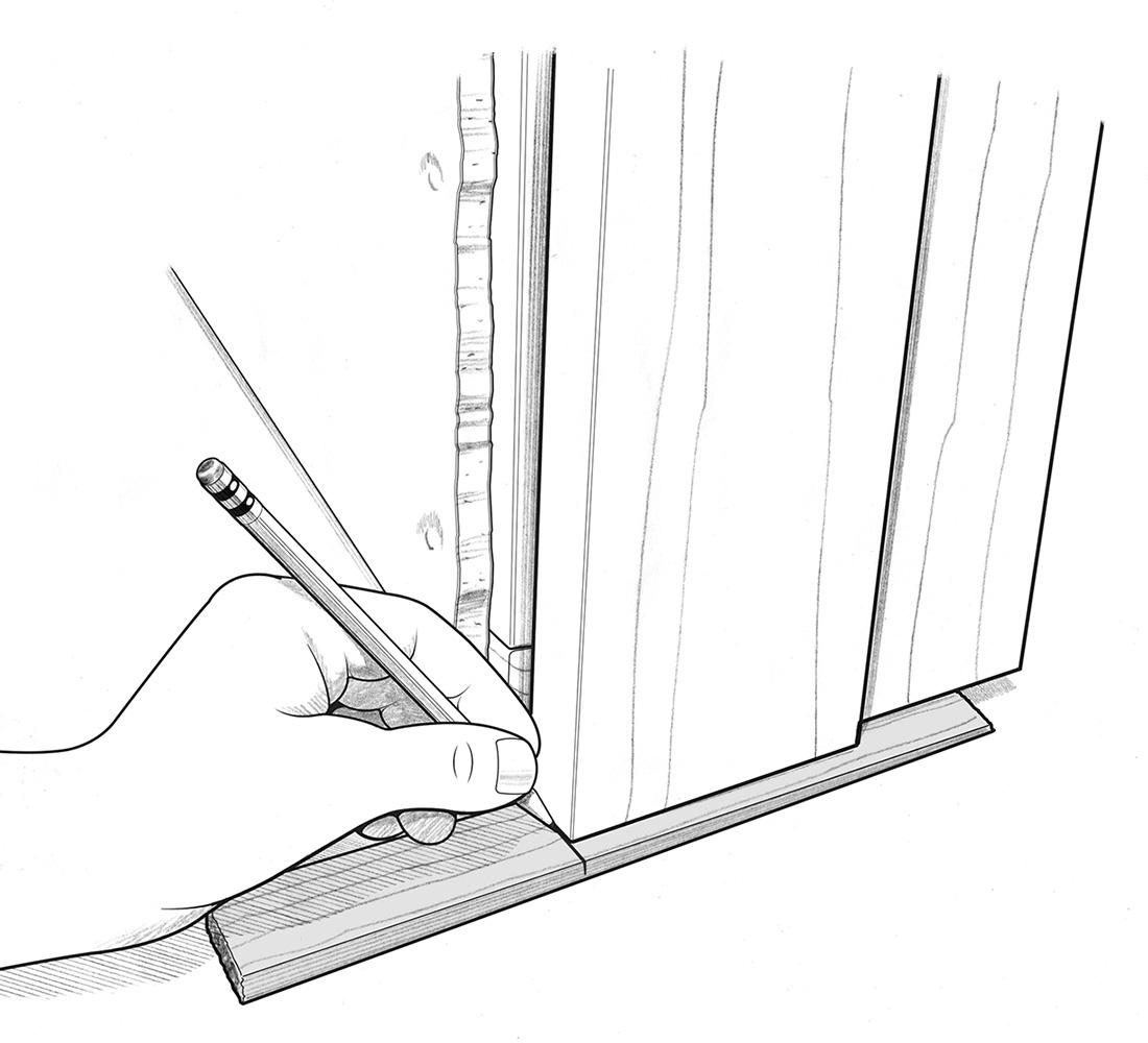 using shim to measure cut