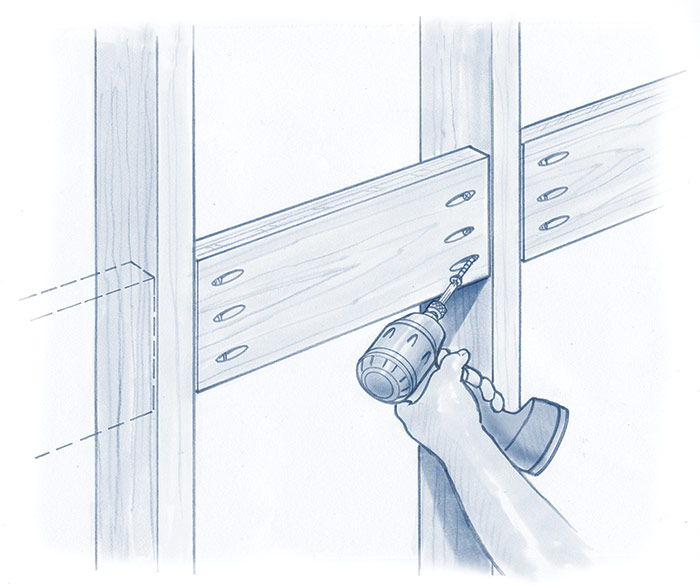 install any blocking that will aid in your trim