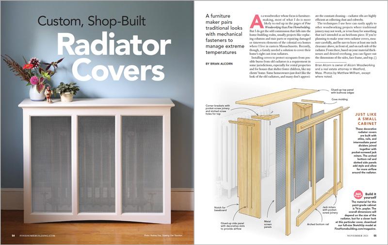 Custom, Shop-Built Radiator Covers
