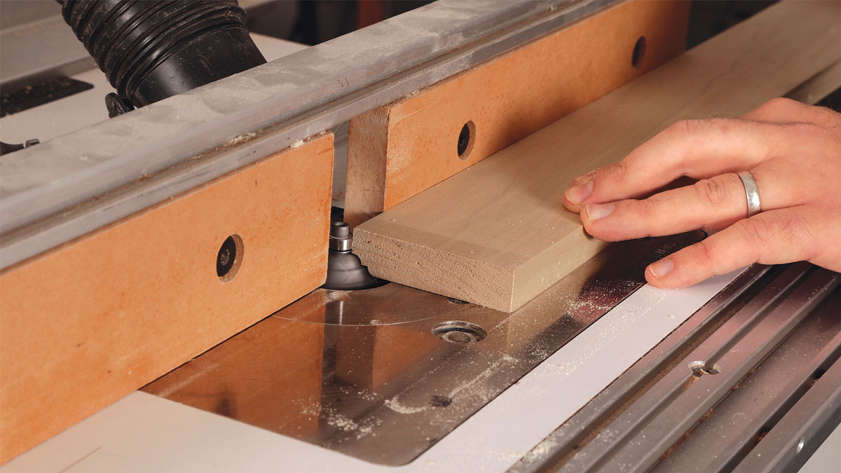 Joint, rip, and profile. For straight material and tight joints, run the stock through a jointer.