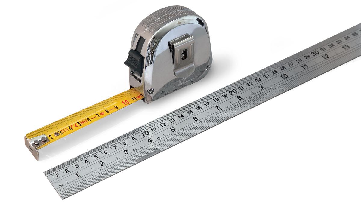 8-Meter Tape Measure Lee Valley 06K1108, Cabinetmaker's Rule Lee Valley 06K2036
