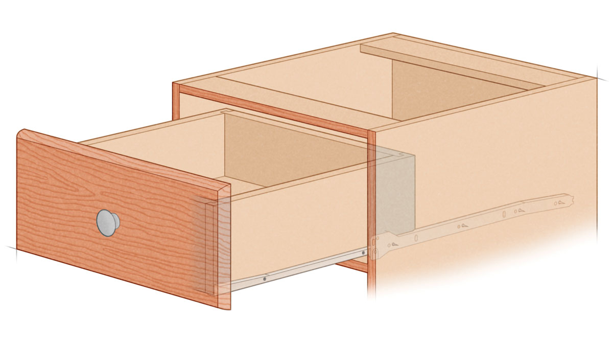 No frills Blum 230M side mount illustration