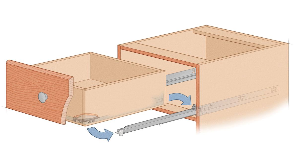 Affordable undermount BLUM Tandem illustration