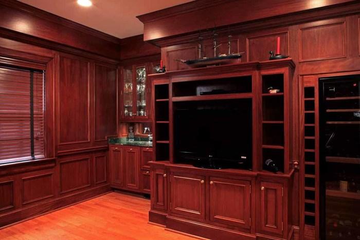 Mahogany Living Room Fine Homebuilding